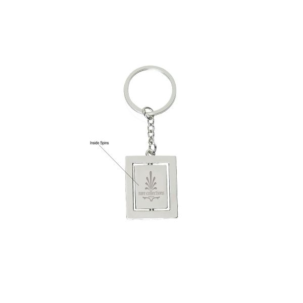 Double Rectangle Metal Key Tag