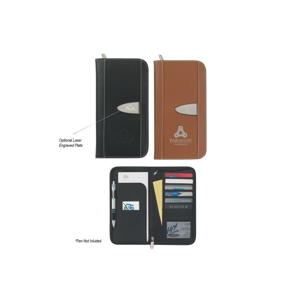 Eclipse Bonded Leather Travel Wallet