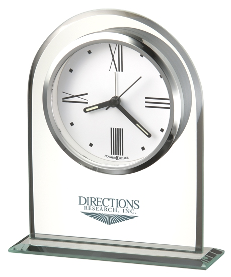 Regent Alarm - Glass arch shaped tabletop alarm clock