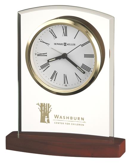 Clock - Glass arch shaped tabletop alarm clock