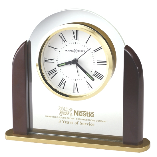 Tabletop clock - Glass arch tabletop alarm clock