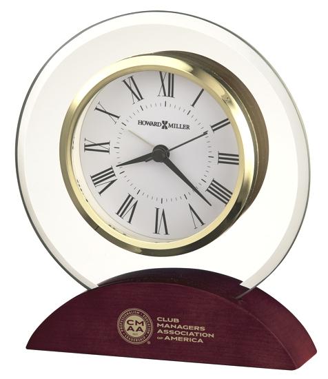 Dana - Round beveled glass tabletop clock