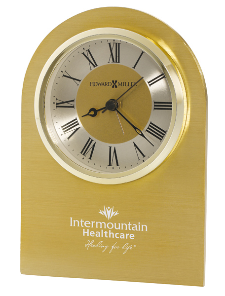 Monarch - Quartz brushed brass alarm clock