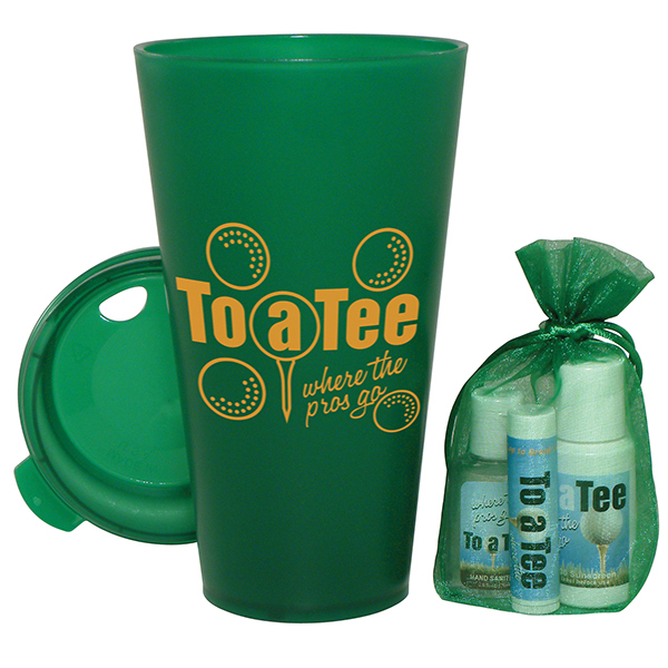 Golf Kit - Includes our Tuf Tumbler, suncreen, lip balm and gel sanitizer.