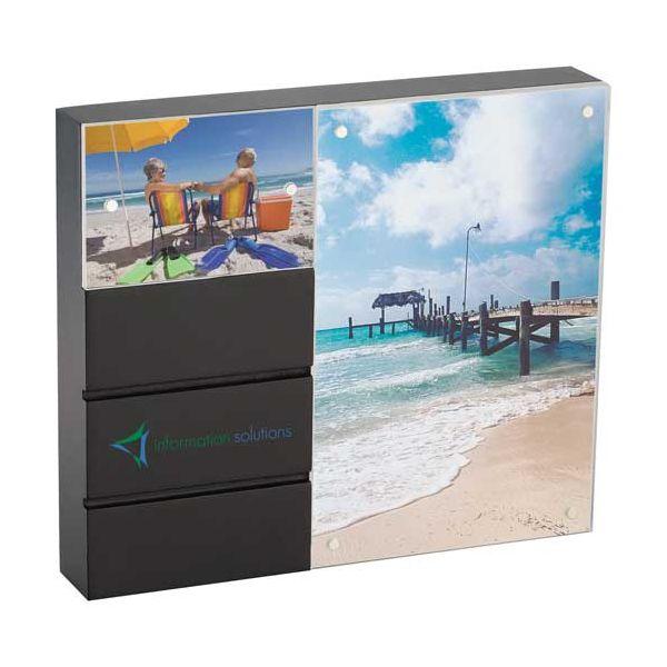Black Acrylic Double Frame