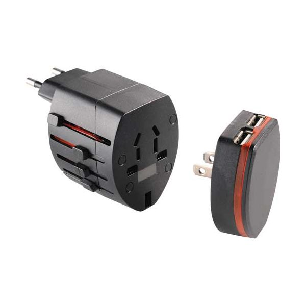 World Travel Adapter with USB Ports