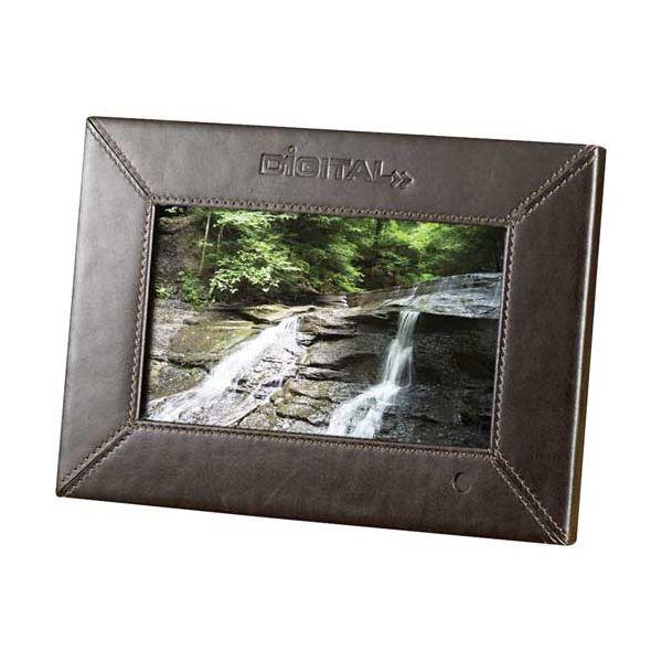 "7"" Leather Digital Photo Frame - 1GB"