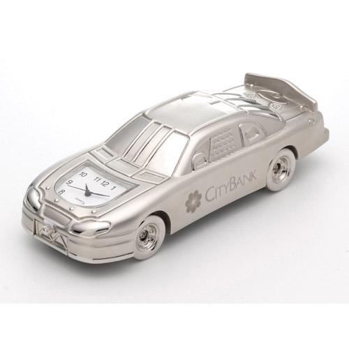 Race Car Clock - Silver and Unique Clocks