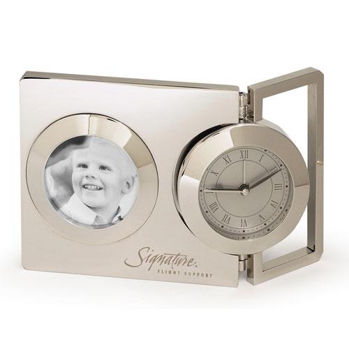 Pivot Clock - Silver and Unique Clocks