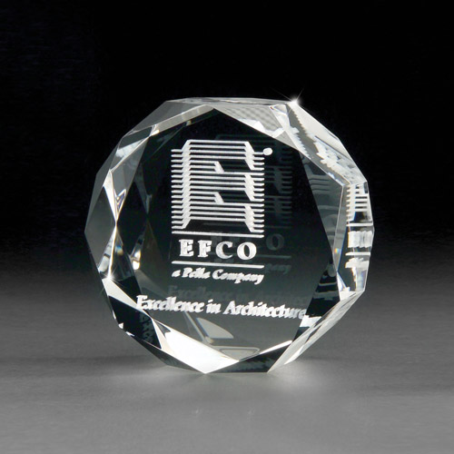 3D Crystal Jewel Paperweight - 3D Lasered