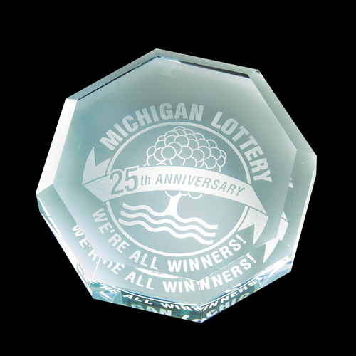 Octagon Jade - Paperweights and Crystal Boxes