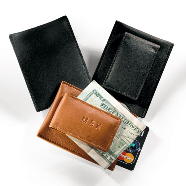 Magnetic Money Clip with Card Pocket