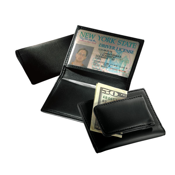 Magnetic Money Clip/Card Case with Window