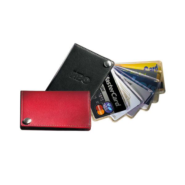Fan-Out Business/Credit Card Holder with Contrast Stitching