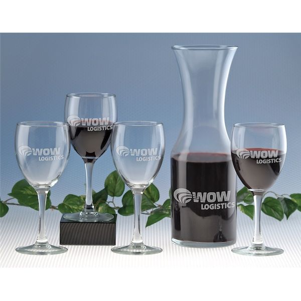 5 Piece Wine And Decanter Set - 5 Piece Wine And Decanter Set