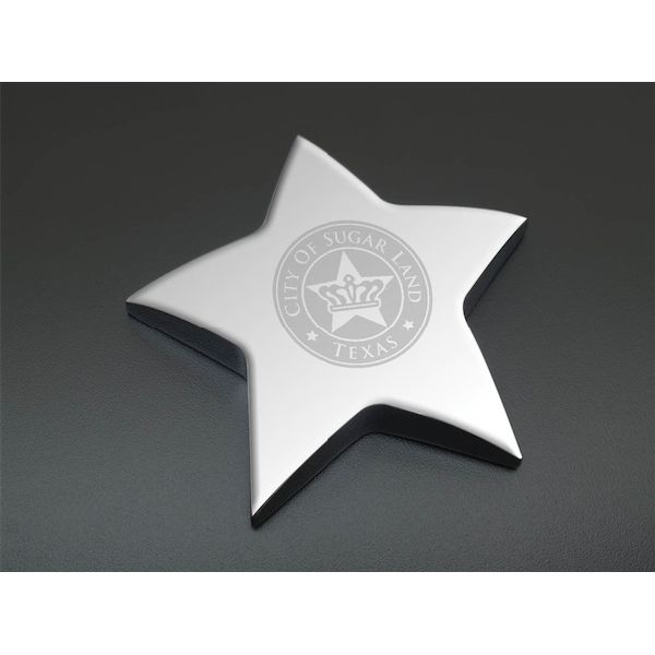 Silver Star Paperweight - Silver Star Paperweight