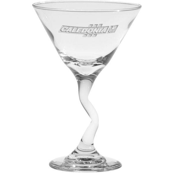 9.25 oz. Deep Etched Jazzy Stem Martini - 9.25 oz. Deep Etched Jazzy Stem Martini
