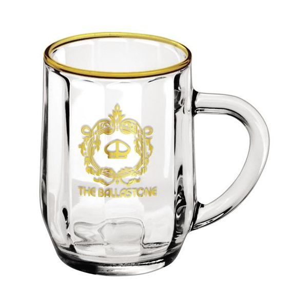 10 oz. Optic Haworth Glass Coffee Mug - 10 oz. Optic Haworth Glass Coffee Mug