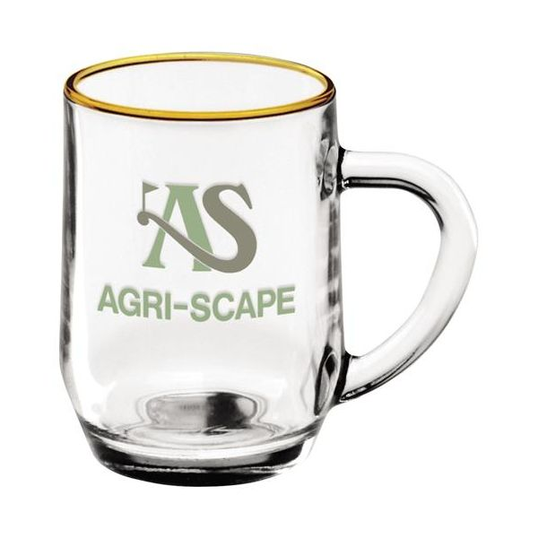 10 oz. Glass Haworth Coffee Mug - 10 oz. Glass Haworth Coffee Mug