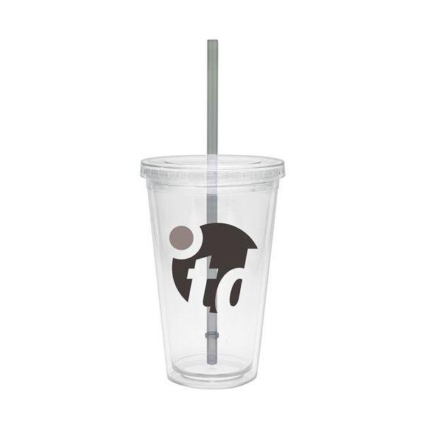 16 oz BPA free Tumbler with Smoke Straw - 16 oz BPA free Tumbler with Smoke Straw