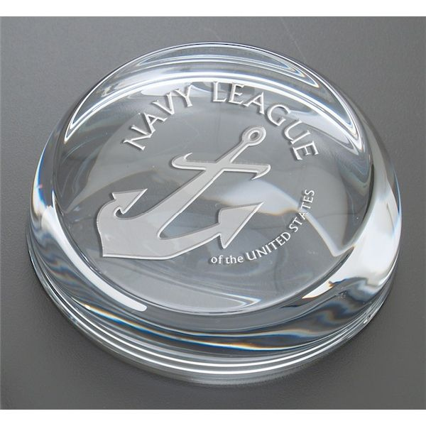 24% Lead Crystal Slice Face Paperweight - 24% Lead Crystal Slice Face Paperweight