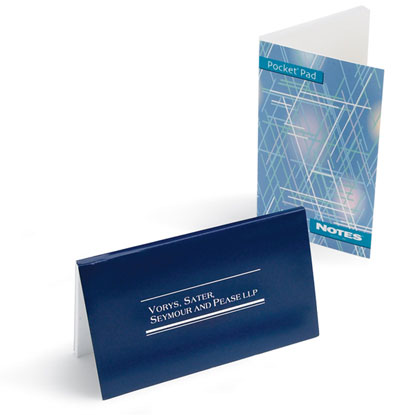 Stik-Withit® Pocket Pads®  - Pocket Pads featuring a full wrap gloss cover  repositionable pad of 50 sheets. Cover and sheets printed digital -4 color process, shrinkwrap in 5's