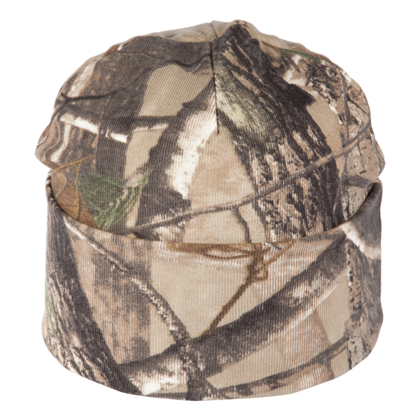 """Camo knit watchcap - Camo knit watchcap, generous cuff to accommodate embroidery, dimensions are 9.5""""w x 8.5'h, sizing may vary +/- 1/2"""""""