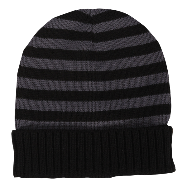 """ACRYLIC STRIPED CUFFED KNIT - ACRYLIC STRIPED CUFFED KNIT, DIMENSIONS ARE 8""""W X 8.5""""H, SIZING MAY VARY +/- 1/2"""""""