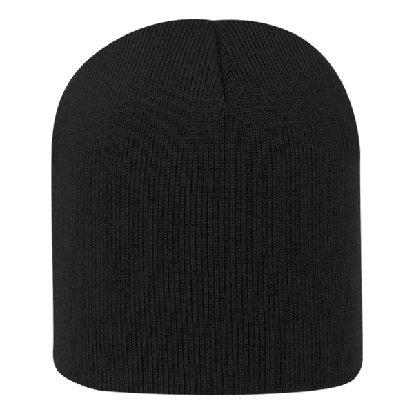 """Knit beanie - Knit beanie, dimensions are 8.25""""w x 7.5""""h, sizing may vary +/- 1/2"""""""