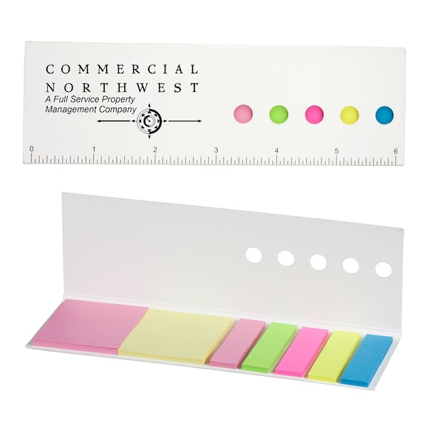 Raja Eco Aware Paper Ruler With Sticky Notes and Flags - Raja Eco Aware Paper Ruler With Sticky Notes and Flags
