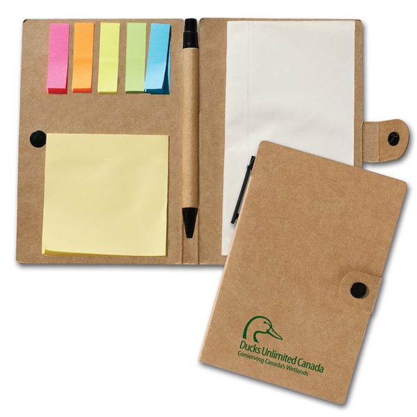 Notebook with Flags & Sticky Notes - Notebook with Flags & Sticky Notes