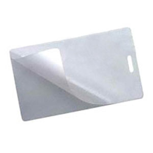2-Part  Clear Laminate Luggage Tag - 2-Part  Clear Laminate Luggage Tag