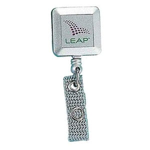 Deluxe Square Silver Tract w/ Swivel Alligator Clip - Deluxe Square Silver Tract w/ Swivel Alligator Clip