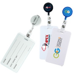 Round Retract-A-Badge With Luggage Tag Combo