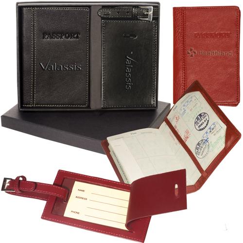 Leeman Peconic Passport & Luggage Tag Set