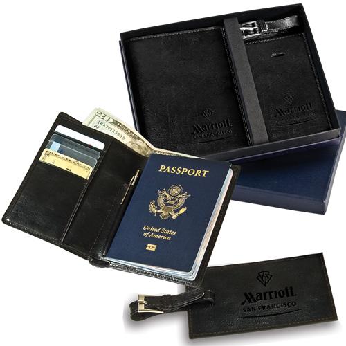 Leeman Soho Passport & Luggage Tag Gift Set