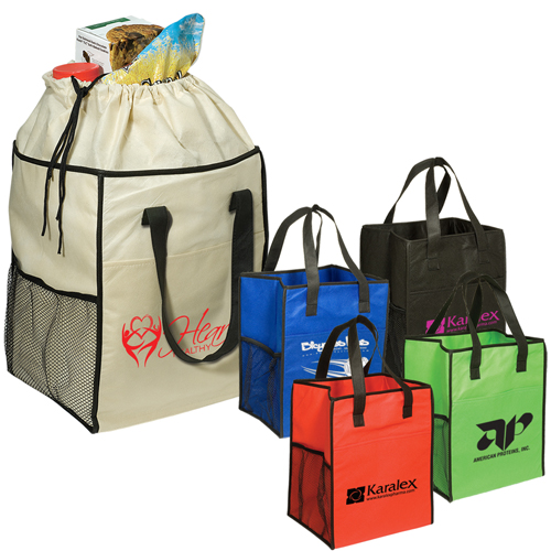 Non-Woven Drawstring Grocery Tote  80gsm