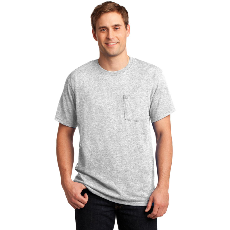 JERZEES ®  -  Dri-Power ®  Active 50/50 Cotton/Poly Pocket T-Shirt.  29MP