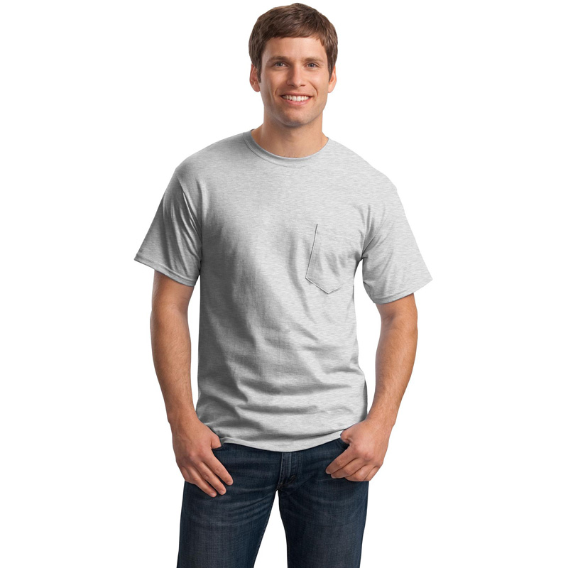 Hanes ®  - Tagless ®  100%  Cotton T-Shirt with Pocket.  5590