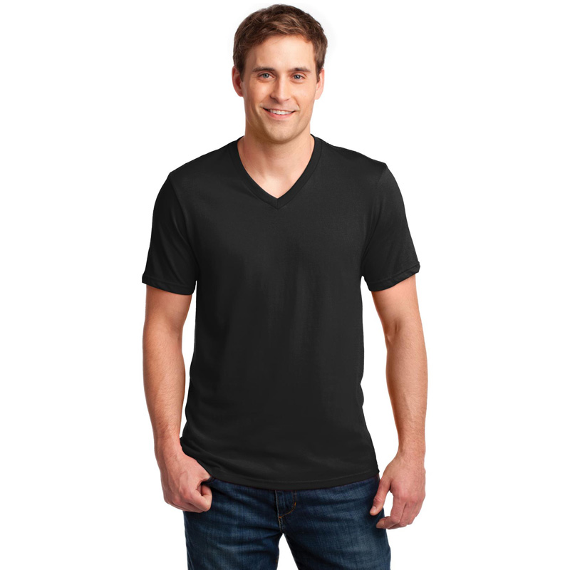 Anvil ®  100% Ring Spun Cotton V-Neck T-Shirt. 982