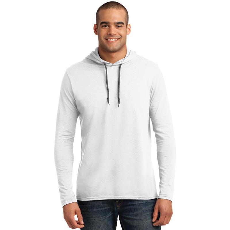 Anvil ®  100% Ring Spun Cotton Long Sleeve Hooded T-Shirt. 987