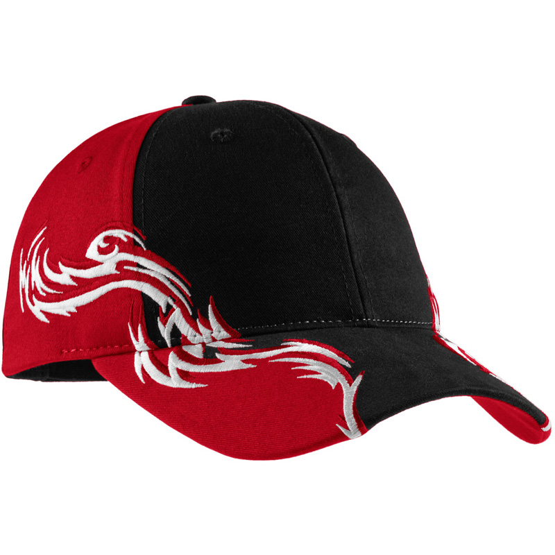 Port Authority ®  Colorblock Racing Cap with Flames.  C859