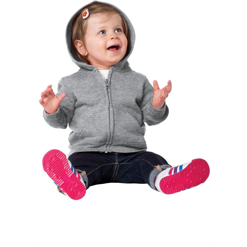 Port & Company® Infant Core Fleece Full-Zip Hooded Sweatshirt. CAR78IZH.