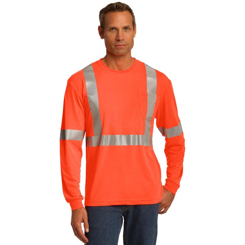 CornerStone ®  ANSI 107 Class 2 Long Sleeve Safety T-Shirt. CS401LS
