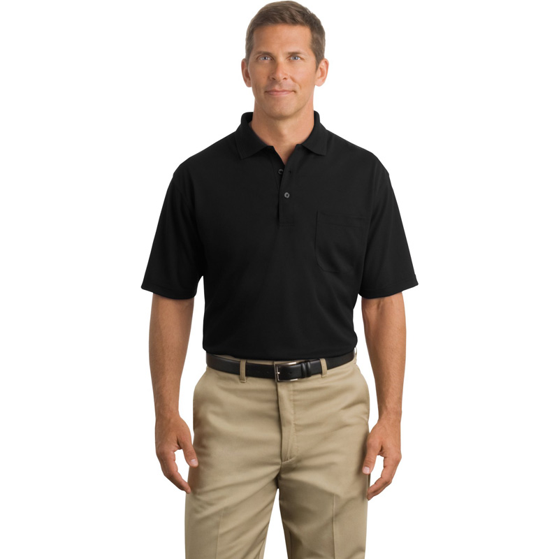 CornerStone ®  - Industrial Pocket Pique Polo. CS402P