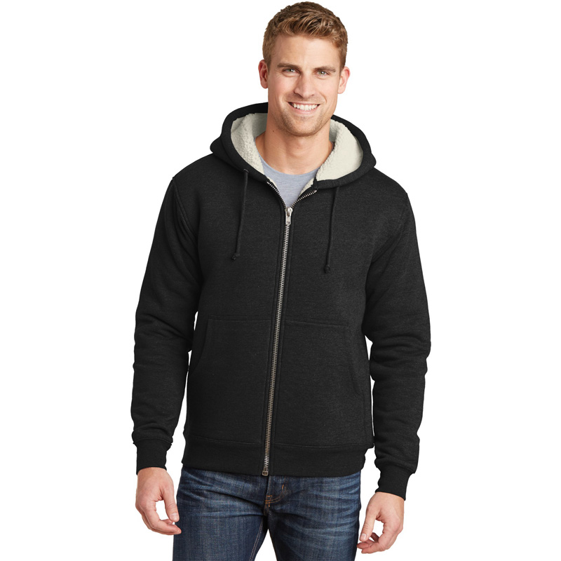 CornerStone ®  Heavyweight Sherpa-Lined Hooded Fleece Jacket. CS625