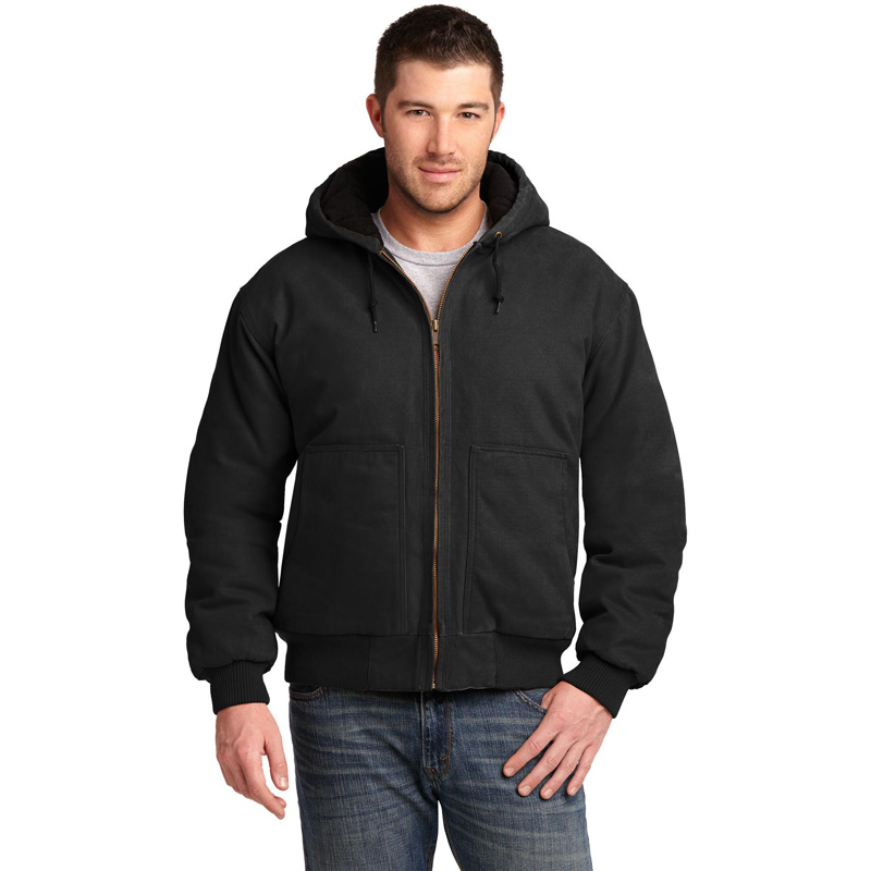 CornerStone ®  Washed Duck Cloth Insulated Hooded Work Jacket. CSJ41