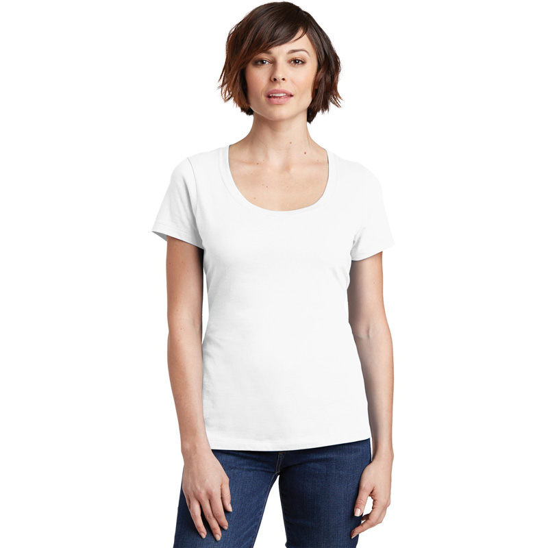 District Made ®  Ladies Perfect Weight ®  Scoop Tee. DM106L