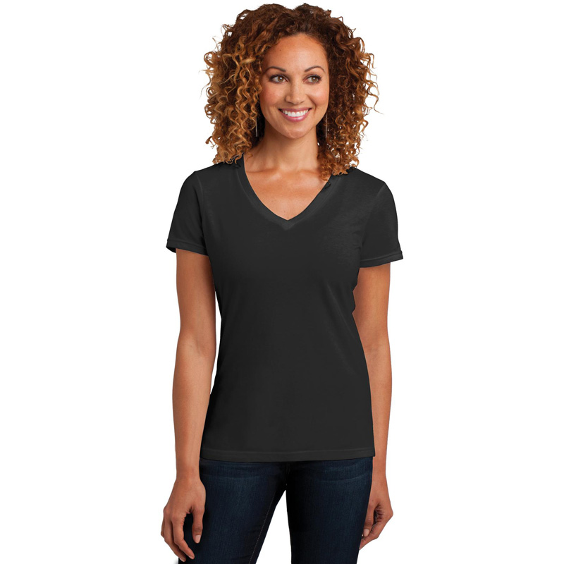 District Made ®  Ladies Perfect Blend ®  V-Neck Tee. DM1190L