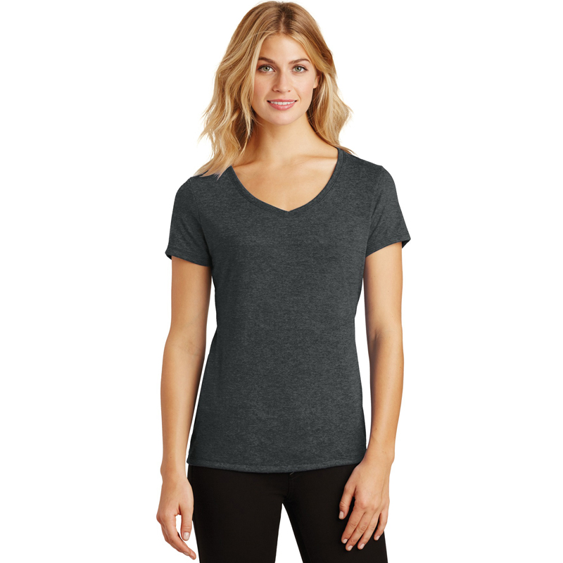04 - District Made ®  Ladies Perfect Tri ™  V-Neck Tee. DM1350L